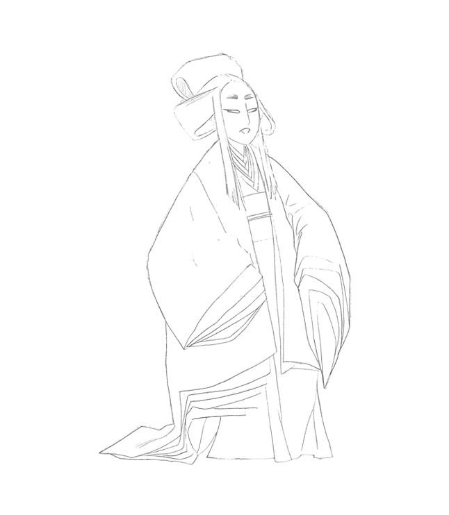 ONI woman sketch