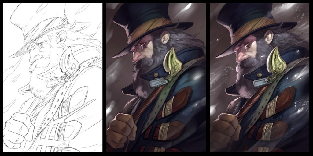 3 step drawing obscurio
